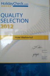 Holidaycheck Quality Selection 2012 und 2013