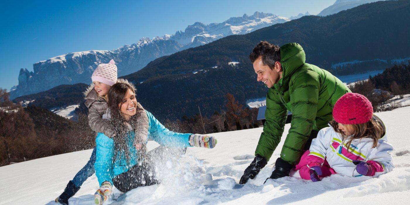Winterurlaub mit Familie am Ritten